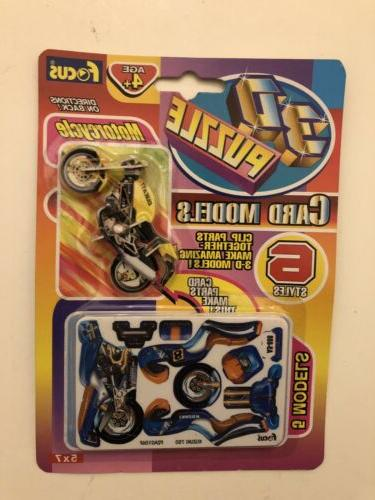 3d puzzle motorcycle 6 styles brand new