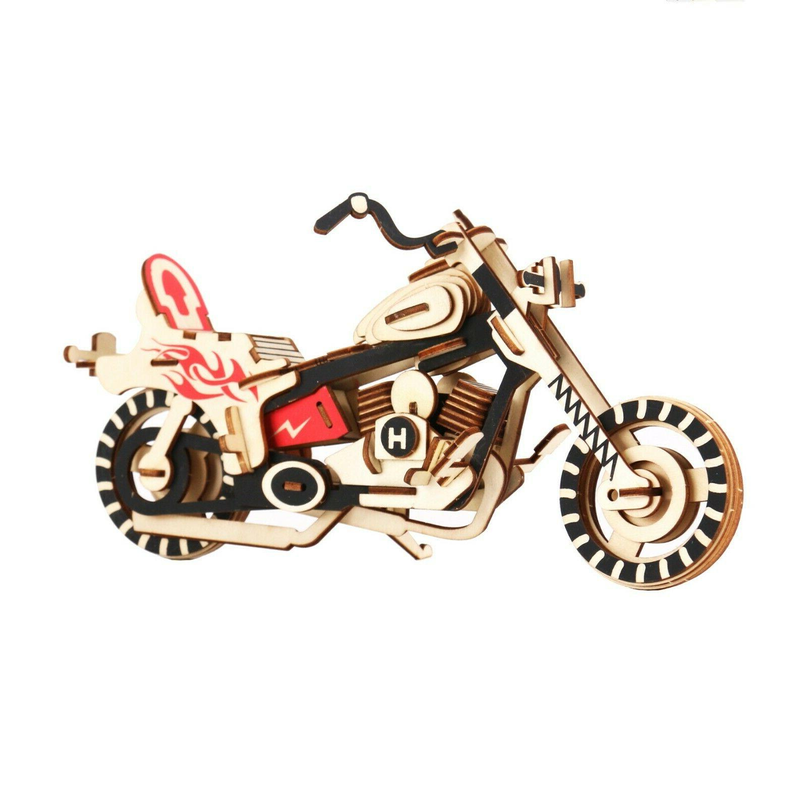 3D Wooden Model DIY Educational Great Gift Children &