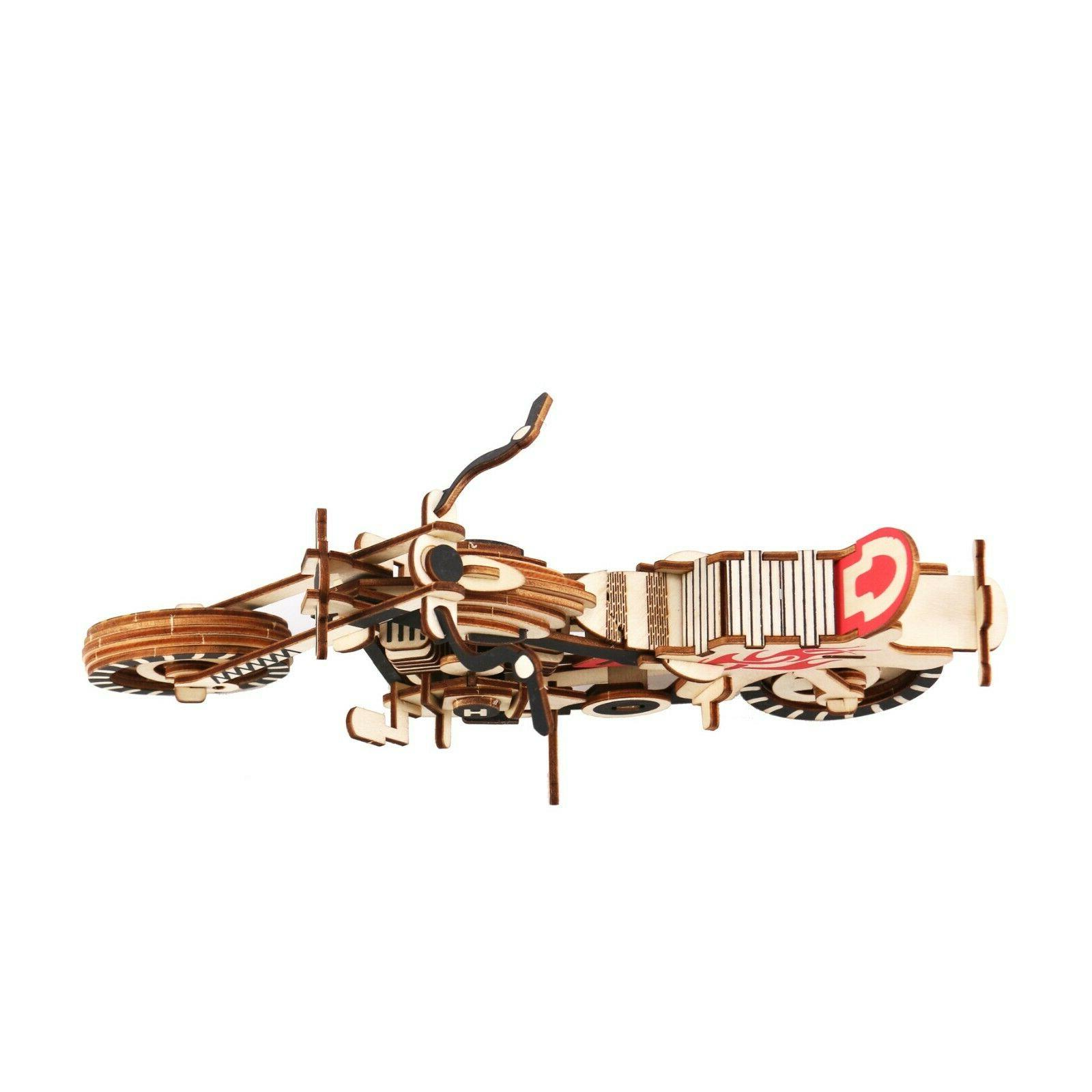3D Wooden Puzzle Motorcycle Model Great &