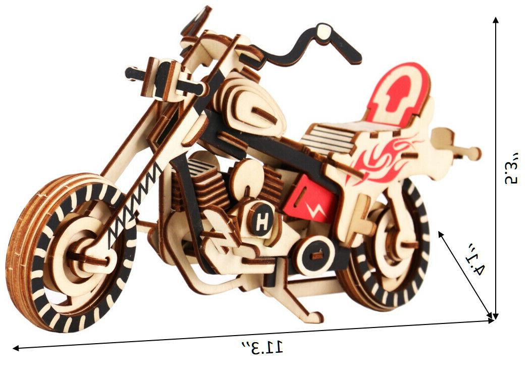3D Wooden Puzzle Model DIY Educational Toy Great for &