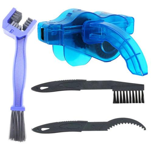4pcs portable bicycle chain cleaning brush scrubber