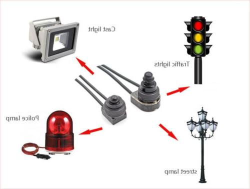 5pcs Leads Waterproof On-Off Push-Button Switch Motorcycle