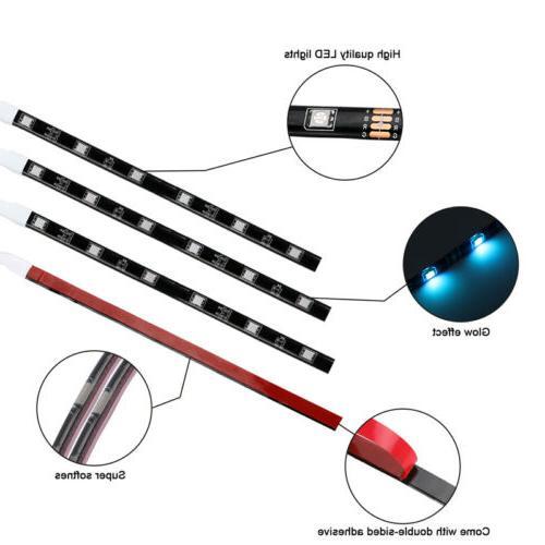 12x RGB LED Neon Lights w/Remote Kit