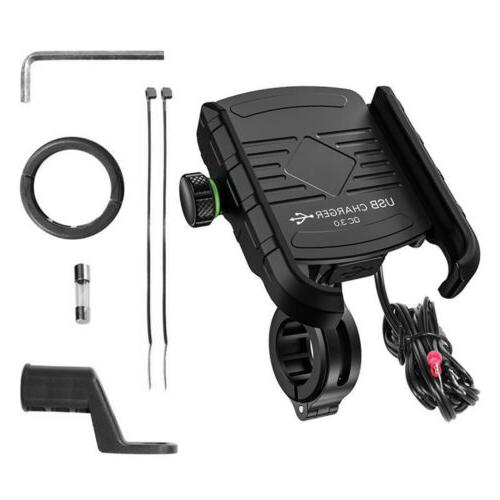 360 Motorcycle Phone Holder Charger Heavy Duty