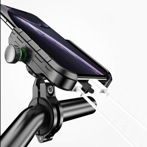 Bike Motorcycle Aluminum Phone Mount Holder Charger for Android