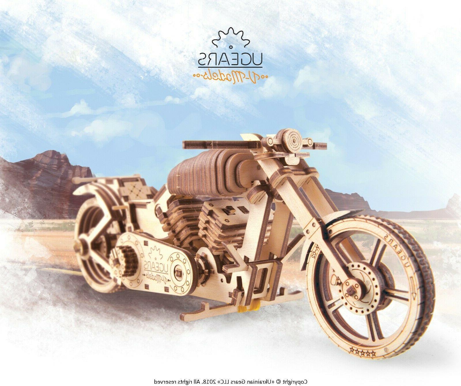 bike motorcycle vm 02 mechanical wooden model