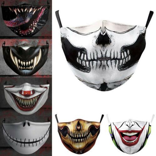 halloween skull bike motorcycle face mask reusable