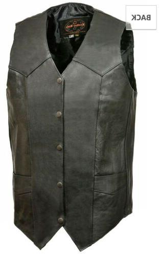 men s tall classic leather motorcycle vest