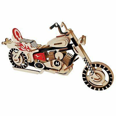 motorcycle bike model kit wooden laser cut