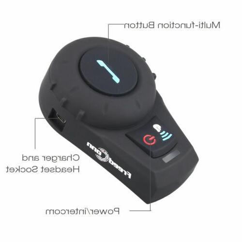 Freedconn Motorcycle BT Intercom Helmet Headset 2Way Radio