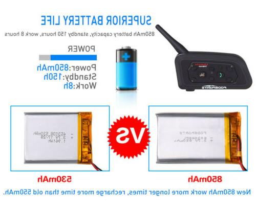 Motorcycle V6 1200m Helmet Headset Bluetooth Interphone 2Way Radio