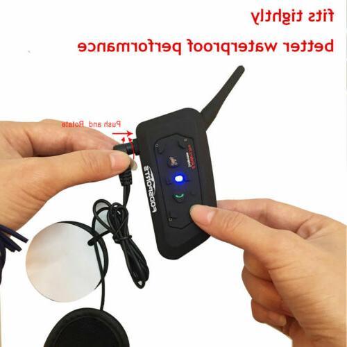 Motorcycle 1200m Helmet Headset Bluetooth 2Way Radio GPS