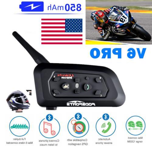 motorcycle intercom v6 1200m helmet headset bluetooth