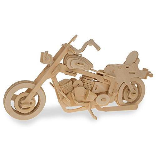 motorcycle model kit wooden 3d