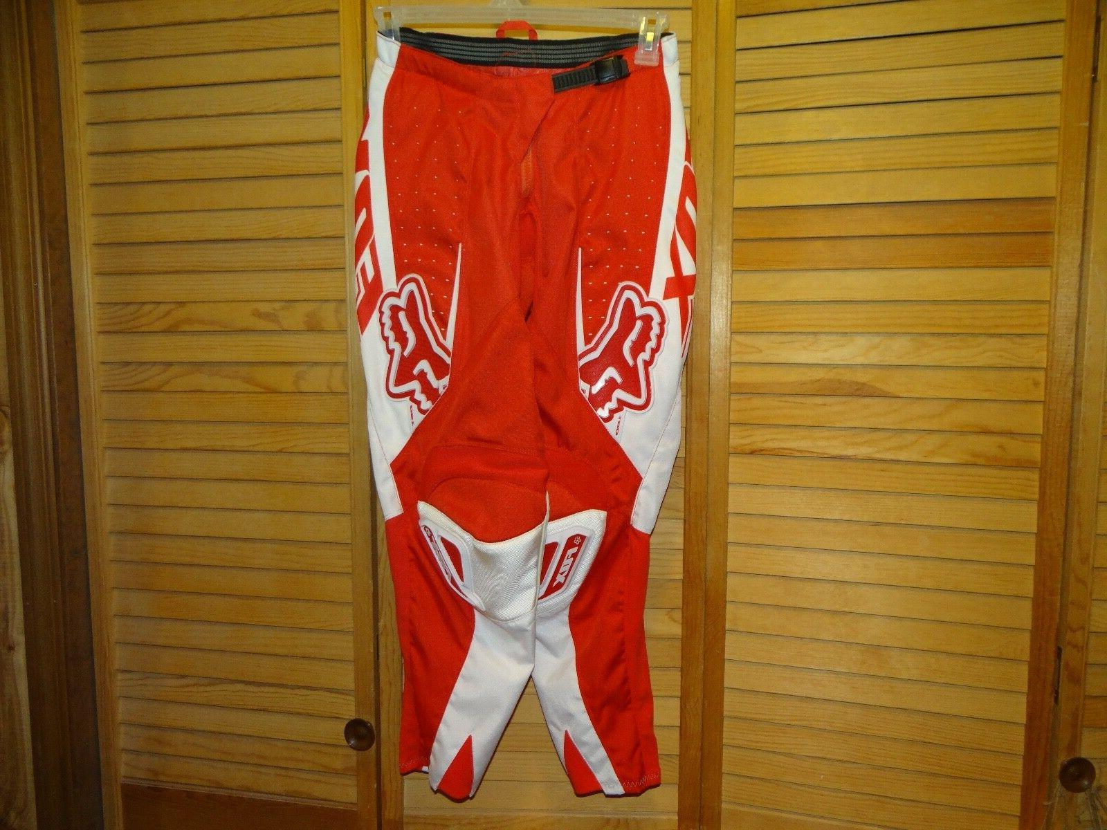 motorcycle pants padded dirtbike size 28 red