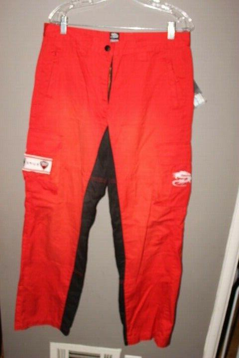 nwt motorcycle apparel red and black pants