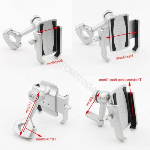 Silver Aluminum Cell Mount for Phone