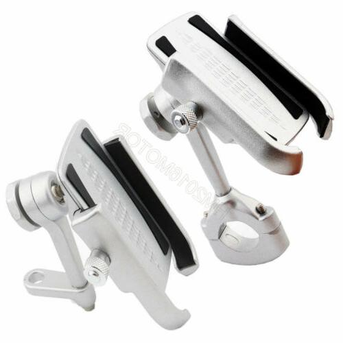 Silver Aluminum Cell Phone Mount Phone