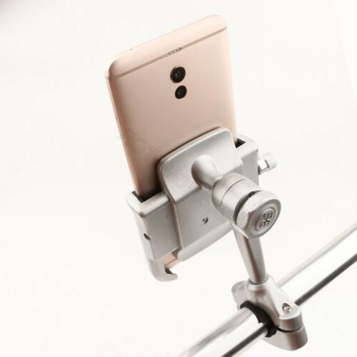 Silver Aluminum Cell Phone Handlebar Mount for Phone US