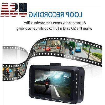 """USA 3"""" Dash Cam 1080P Dual Lens Recorder"""