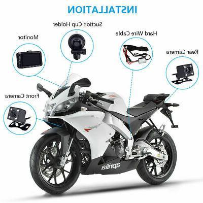 USA Motorcycle Dash Dual Camera