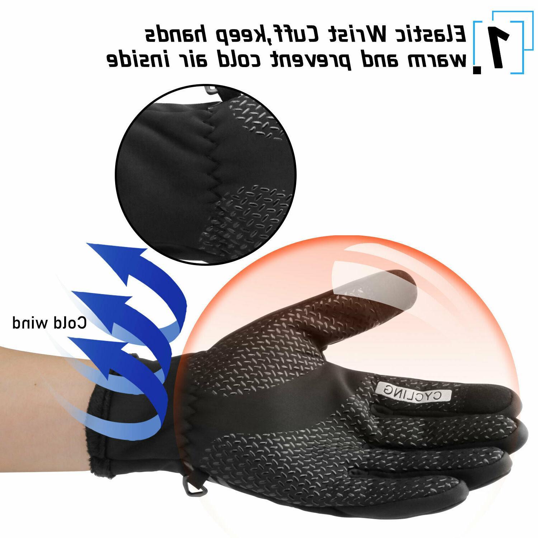 Waterproof Warm Thermal Gloves Screen Men Women