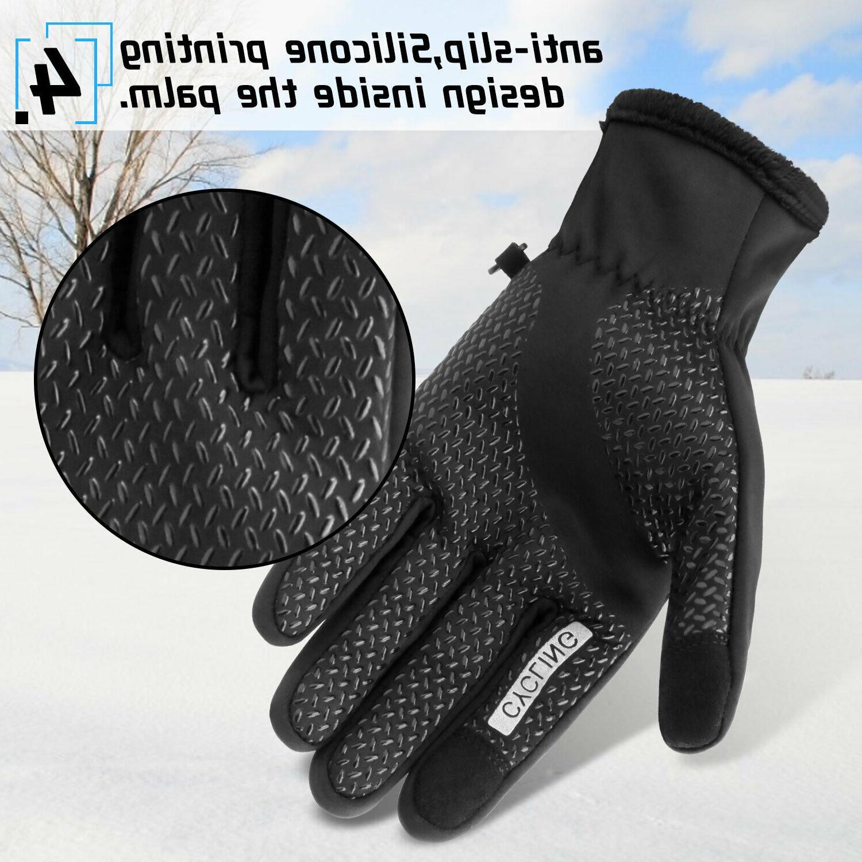 Waterproof Warm Gloves Touch Screen Men