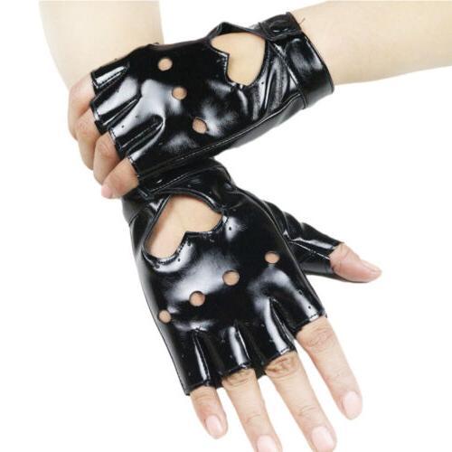 Women Punk Gloves Fingerless Gloves