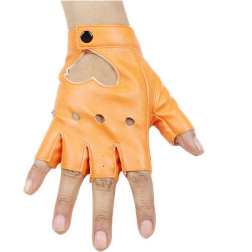 Women Punk Gloves Fingerless