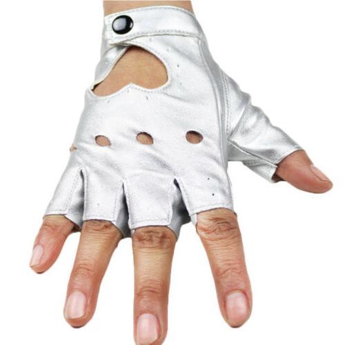 Women Motorcycle Punk Gloves Fingerless Short Gloves