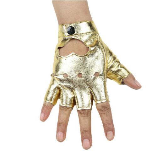 Women Shinny Short Gloves Dance