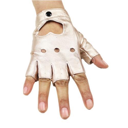 Women Shinny Gloves Dance Motorcycle Gloves