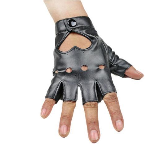 Women Short Gloves Fingerless Dance Motorcycle