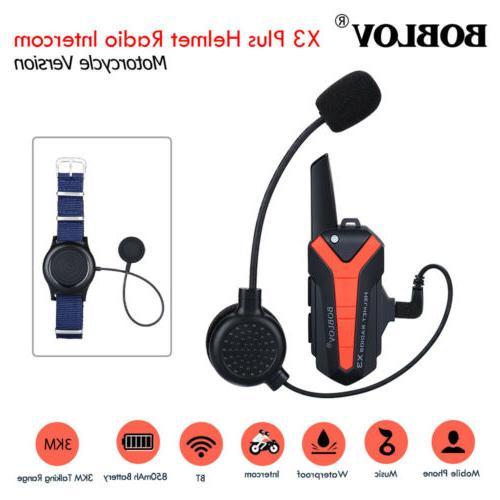 x3plus helmet wireless walkie talkie intercom 2way