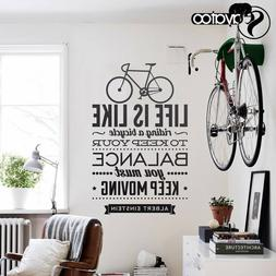 Life is Like Riding a Bicycle Quote Vinyl Wall Sticker Decal