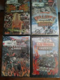 Lot Of 4 Motorcycle Rallies DVDs. NEW !  SEALED !!