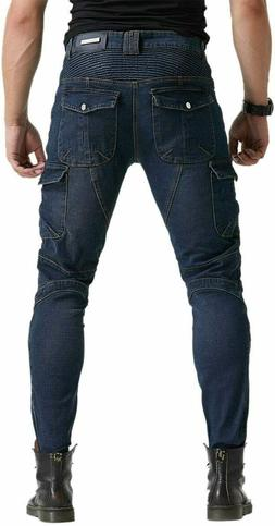 Men Motorcycle Riding Pants Denim Jeans with Protect Pads Eq
