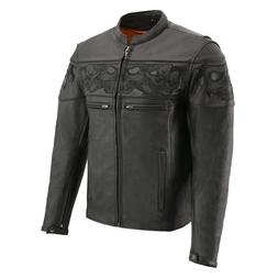 Milwaukee Leather Men's 'Cool-Tec' Blk Leather Crossover Sco