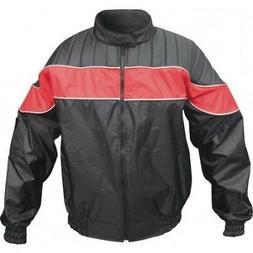 Men's Fashion Red/Black Heavy Duty Biker Motorcycle Rain Gea