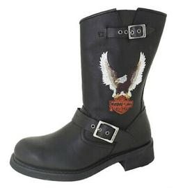 Harley Davidson Men's Jerry Motorcycle Boot Black Style D933