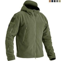Men's Tactical Fleece Jacket Full-Zip Up Outdoor Windproof H