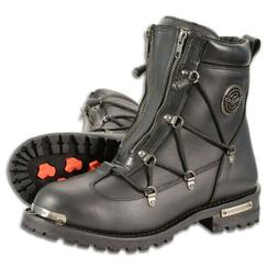 mens 6 twin zipper waterproof motorcycle boots