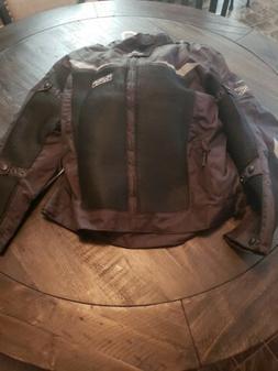 Mens black levante motorcycle jacket 3xl
