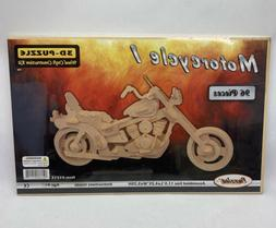 Puzzled Motorcycle 3D Wooden Puzzle Wood Craft Construction