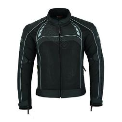 MOTORCYCLE ARMORED JACKET FOR MEN BREATHABLE AIR MESH WATERP
