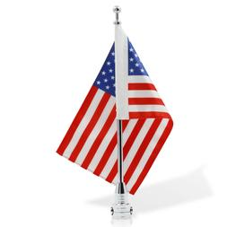 """Anley Motorcycle Flagpole Mount and American Flag 7"""" x 10"""" P"""