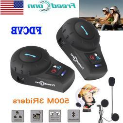 Motorcycle Helmet Bluetooth Intercom Headset Motorbike Inter