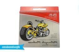 Motorcycle Madness Stencil Art Portfolio Motorbike Kids Desi