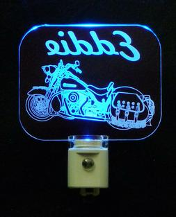 Motorcycle Personalized LED Night Light, Lamp, Man Cave, Han