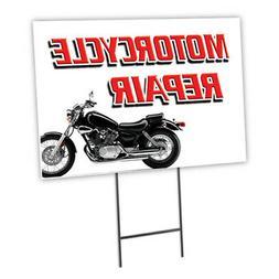Motorcycle Repair Yard Sign & Stake outdoor plastic coroplas